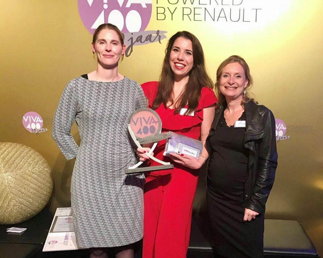 Lotte Rensen wint Viva400 award met inzet voor She Decides