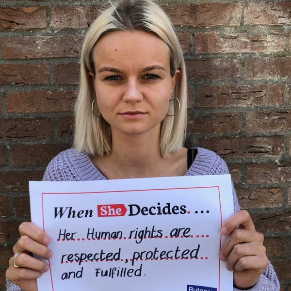 When she decides, her human rights are respected, protected and fulfilled.